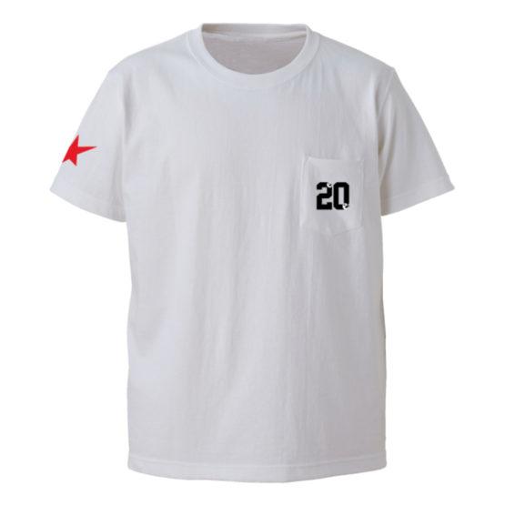 20 on the pocket s:s tee 白正