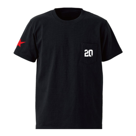 20 on the pocket s:s tee 黑正